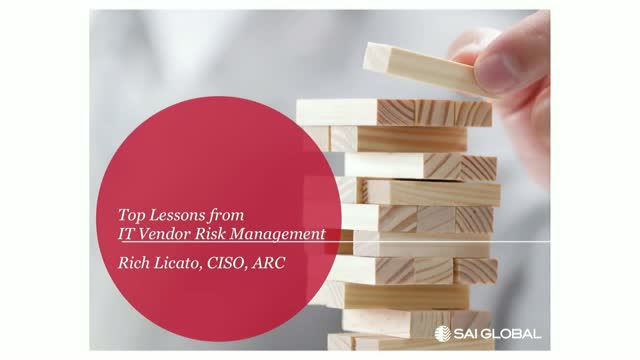 Top Lessons from IT Vendor Risk Management