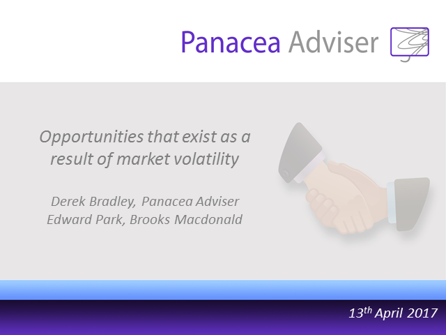 Opportunities that exist as a result of market volatility