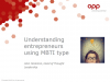 Understanding entrepreneurs using MBTI type