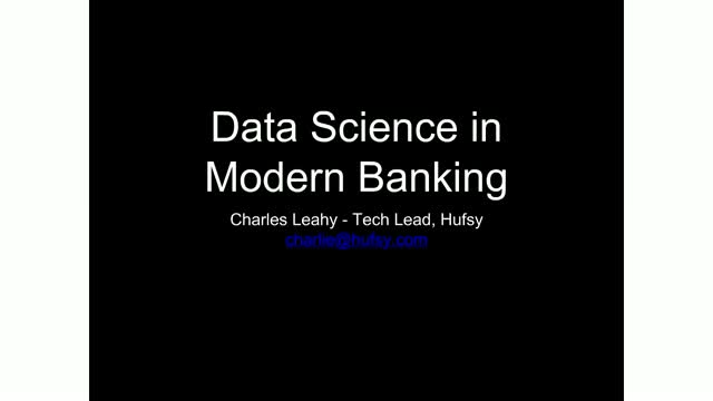 Data Science in Modern Banking