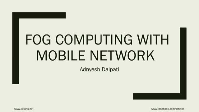 Fog Computing in Mobile Network
