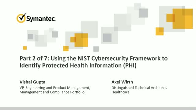 Using the NIST Cybersecurity Framework to Identify Protected Health Information