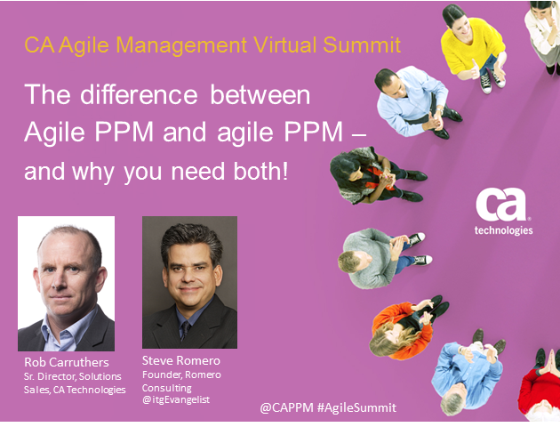 The difference between Agile PPM and agile PPM – and why you need both!