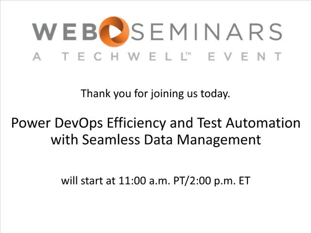 Power Devops Efficiency and Test Automation with Seamless Data Management