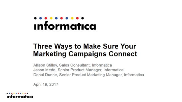 Three Ways to Make Sure Your Marketing Campaigns Connect