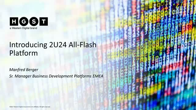 Introducing 2U24 All Flash SAS Platform