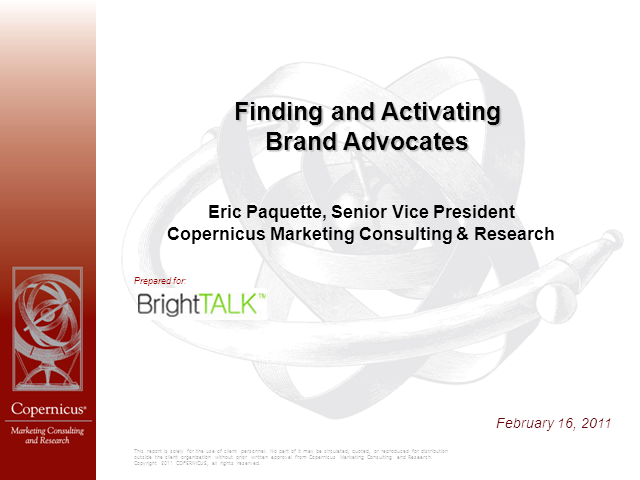 Finding and Activating Brand Advocates