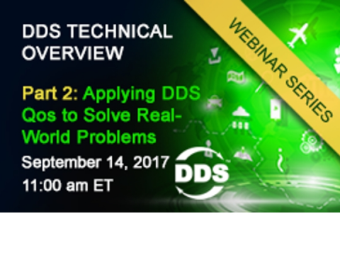 DDS Technical Overview Part II - Applying DDS QoS to Solve Real World Problems