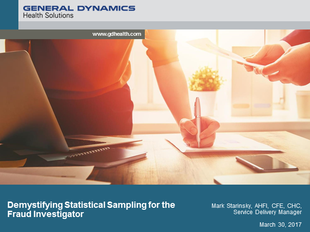 Demystifying Statistical Sampling for the Fraud Investigator