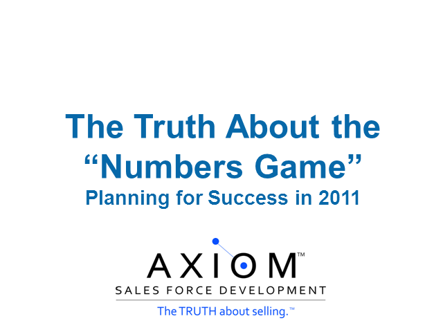 The Truth About the Numbers Game