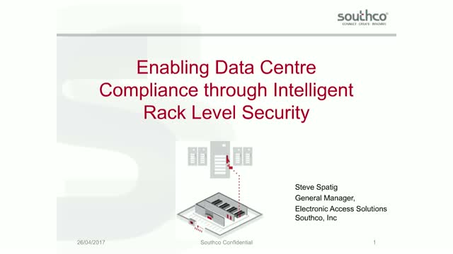 Enabling data security compliance through intelligent rack level locking