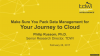 Make Sure You Pack Data Management for Your Journey to Cloud