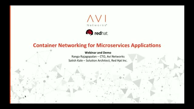 Using Container Networking for Microservices Applications: A Red Hat Use Case