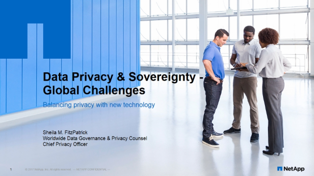 Data Privacy and Sovereignty – Global Challenges in the Cloud