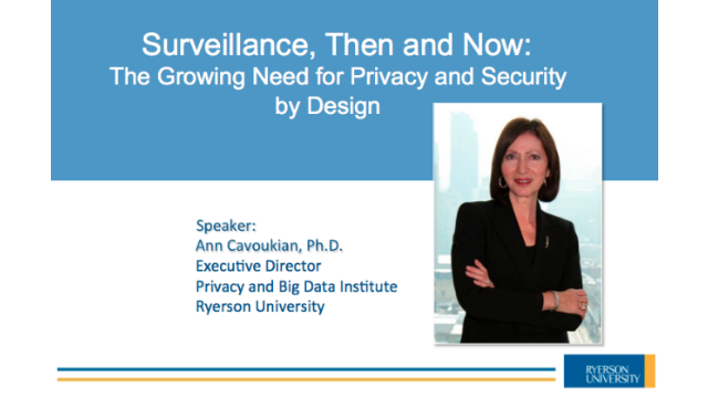 Surveillance, Then and Now: The Growing Need for Privacy & Security by Design