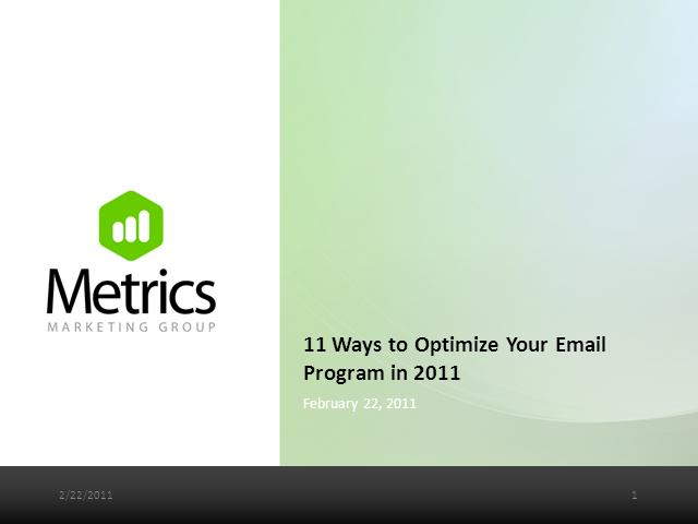 11 Ways to Optimize Your Email Campaign in 2011