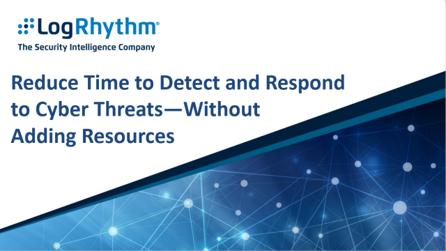 Reduce time to detect and respond to cyber threats - without adding resources
