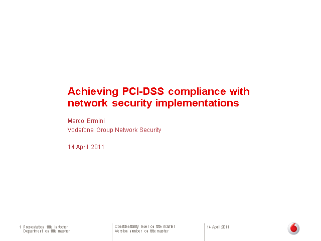 How to Meet PCI 2.0 with Network Security Implementation