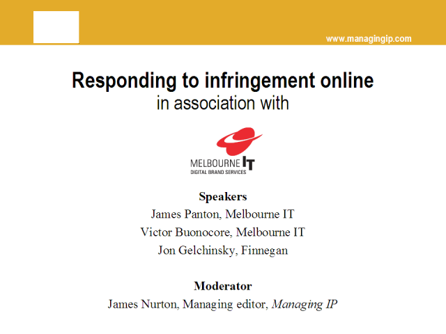 Responding to infringement online