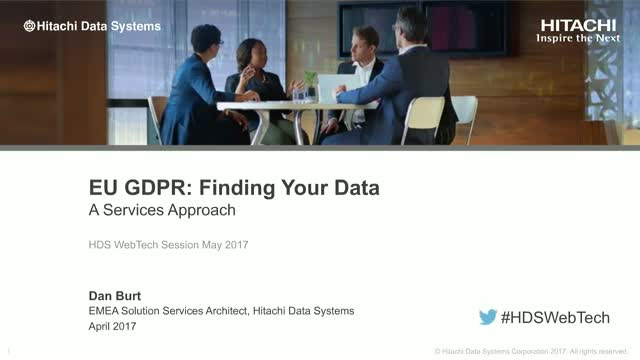 EU GDPR - Finding your data 'A Services Approach'