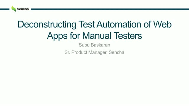 SNC - Deconstructing Test Automation of Web Apps for Manual Testers