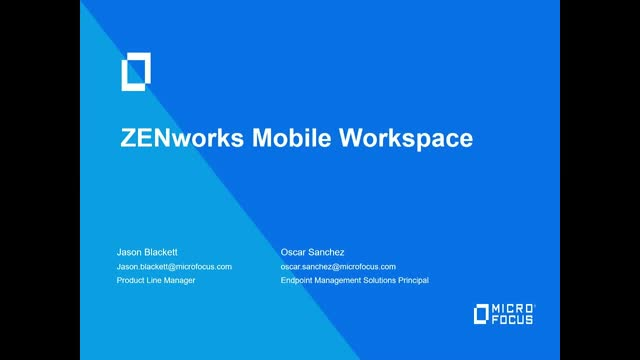 TechTalk: Mitigate the Risks of BYOD with ZENworks® Mobile Workspace