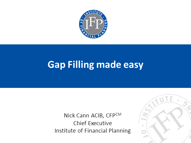 Gap Filling Made Easy