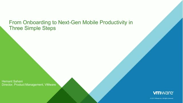 From Onboarding to Next-Gen Mobile Productivity in Three Simple Steps