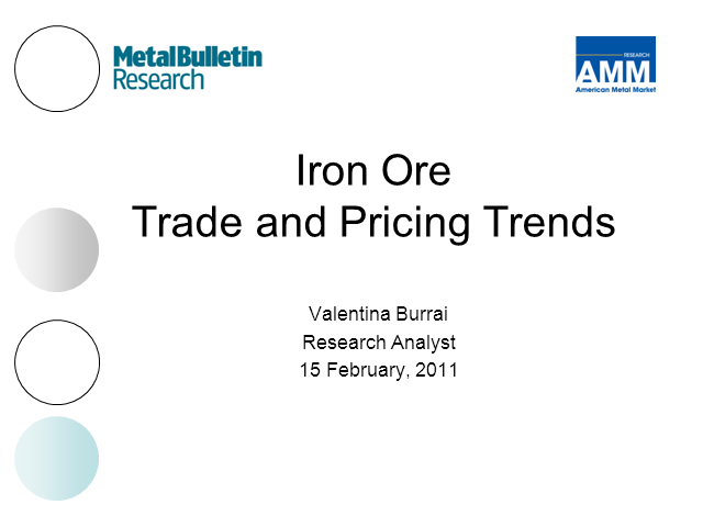 Iron Ore: Evolving Trade and Pricing Patterns