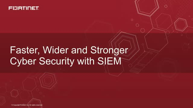 Faster, Wider and Stronger Cyber Security with SIEM