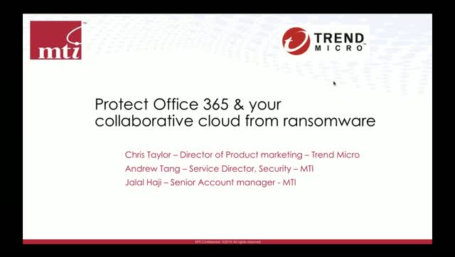 Protect Office 365 and your collaborative cloud from ransomware