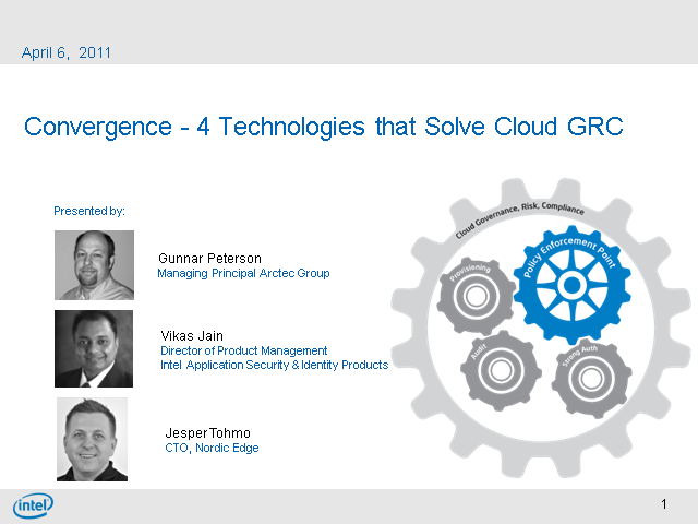 Convergence- 4 Technologies that Solve Cloud GRC