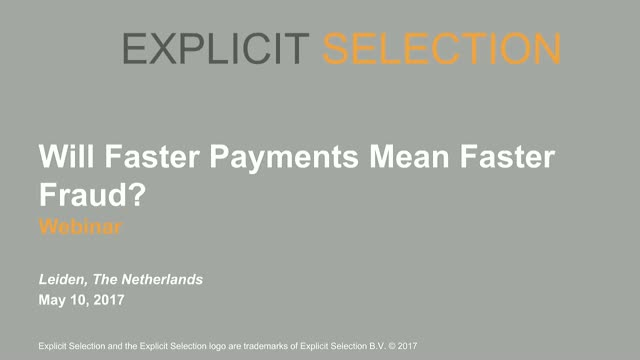Will Faster Payments Mean Faster Fraud?