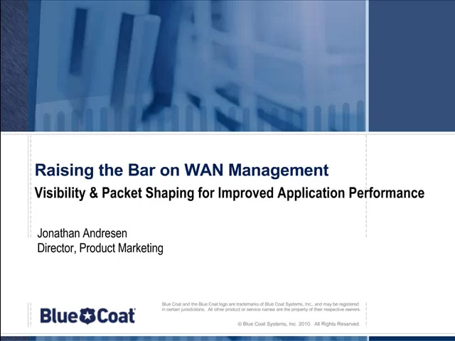 Raising the Bar on WAN Management