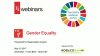 SDG Webinar Series: GENDER EQUALITY