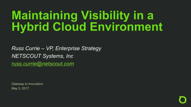 Maintaining Visibility in a Hybrid Cloud Environment