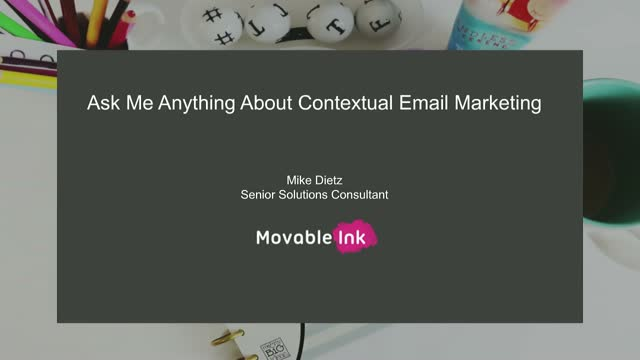 Webinar: Ask Me Anything About Contextual Marketing