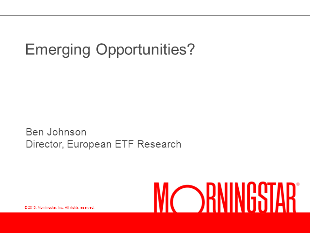 Investing in Emerging Markets with ETFs