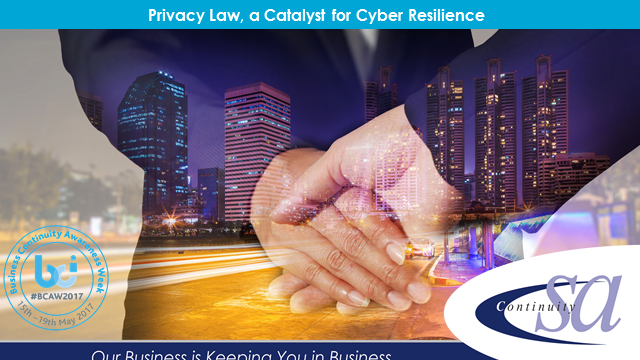 Privacy law, a catalyst for cyber resilience
