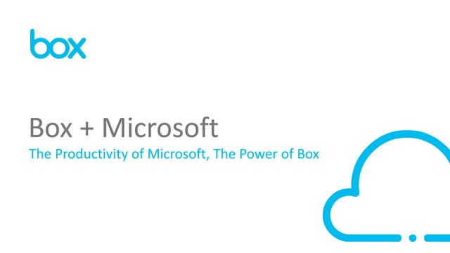 Box + Microsoft - Better collaboration and security with Box