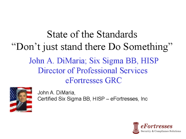 State of the Standards, Don't Just Stand There, Do Something
