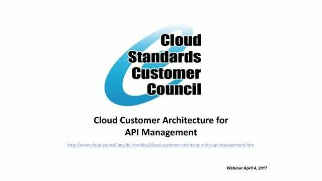 Cloud Customer Architecture for API Management
