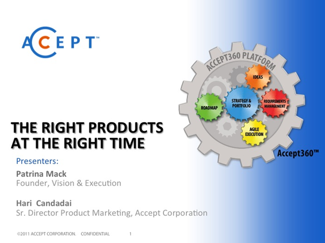 The Right Products at the Right Time