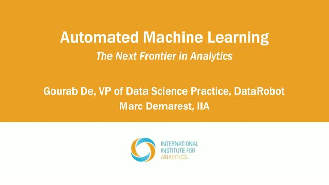 Automated Machine Learning: The Next Frontier in Analytics