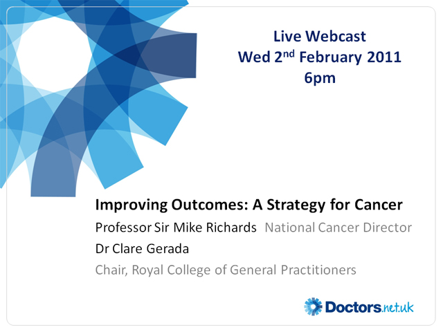 Improving Outcomes: A Strategy for Cancer