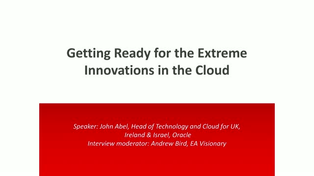Interview: Getting ready for the extreme innovations in the cloud
