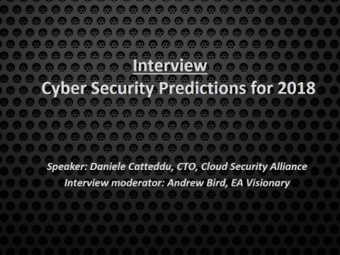 Video Interview: Cyber security predictions for 2018