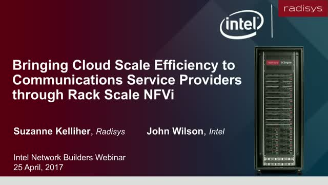 Cloud-Scale Efficiency for Comm Service Providers through Rack Scale NFVi