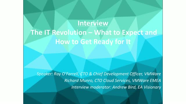 Video interview: The IT revolution - what to expect and how to get ready for it