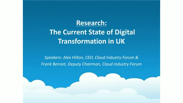 The current state of digital transformation in UK - research results